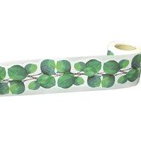 벽 스티커 리프 게시판 테두리 녹색 65 피트 유칼립투스 다이 컷 트림 교실