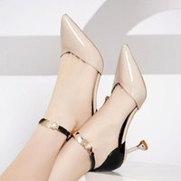 Cresfimix zapatos de mujer women fashion sweet pointed toe buckles strap stiletto heels lady cool red party heel shoes a6683 Y0406