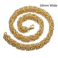 10 ملليمتر 7-40inch أعلى جودة 316l الفولاذ المقاوم للصدأ البيزنطية مربع رابط سلسلة قلادة للرجال مجوهرات هدية