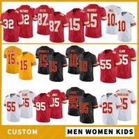 15 باتريك ماهوميس مخصص الرجال النساء الاطفال كرة القدم الفانيلة 87 ترافيس كيلسي 10 تايك هيل 95 كريس جونز 25 إدواردز هيلير 26 جرس 14 واتكينز جودة عالية مخيط