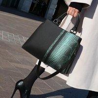 Evening Bags Genuine Leather Women Top-handle Handbag 2021 Fashion Single Shoulder Messenger Bucket Ladies Fashionable Purses Bolso