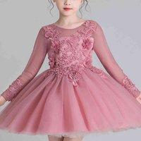 Es for Girls Wedding Party Japon Flower Gown Princes Kids Children Born Tutu Short Dress Dm1211