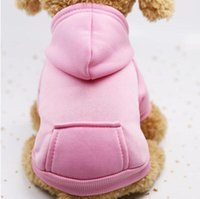 Dog Sweater Hooded Apparel Small Pocket Pets Hoodies Coat Jackets With Sleeve Dogs Outside Travel Winter Warm Clothes Pe