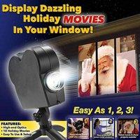 Party Decoration Christmas Halloween Laser Projector 12 Movies Disco Light Mini Window Home Theater Indoor Outdoor Wonderland