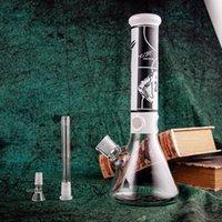 35 cm Tall Nargile Cam Bong Beher Kalın Malzeme Su Borusu Sigara Heady Dab Rigs Ortak 18.8mm için