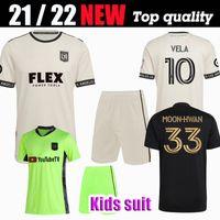 Kids Suit MLS 2021 2022 Lafc Soccer Jersey 21 22 Rossi Vela Kaye Moon-Hwan Los Angeles FC Player للتغيير أسود خارج طبعة المعجبين نسخة كرة القدم