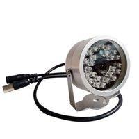 Caméras 1200TVL Color Color Mini Caméra Mini Caméra Ever Etanche Vision Nuit IR-Coupe IR 24 LED CCTV Home Security Surveillance 2.8mm 3.6mm