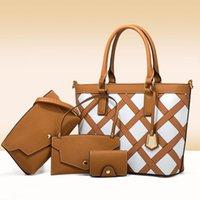 Shoulder Bags Women's Handbag Bag Designer Luxury Pu Leather 4 Pcs Crossbody Clucth Purse Wallet Ladies
