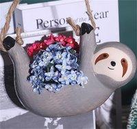 السيراميك كسل شنقا الغراس النضرة لطيف الحيوان وعاء النبات صغير للصبار، محطات الهواء، الزهور، الأعشاب حديقة الديكور 1427 v2