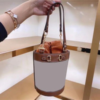 Luxury Designer Vintage Lady Women Shoulder Fashion Handbags Bucket Bow Lock Chains Embroidery String Two Handles Shoulder Bags 1955