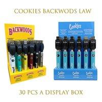 Cookie Backwoods Law Twist Предварительно нагрева VV Батарея 900 мАч Нижнее напряжение регулируемое USB Зарядное устройство Vape Pen 30 шт. С дисплеем