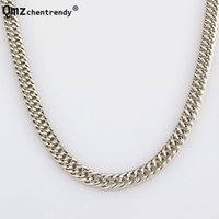High Quality 90CM 7.5mm Hip Hop Mens Herringbone Cuban Link Chain Necklace Chunky Boys Rapper NightClub DJ Jewelry Chains