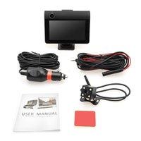 """Webcams 4.0"""" LCD Display Dual Lens G-Sensor HD 1080P Car DVR Dash Cam Rearview Camera"""