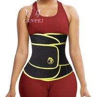 LANFEI compressão cinta cinta treinadores cinto para mulheres emagrecimento sauna perda de peso neoprene shaper corpo espartilho suor gordo queimadura