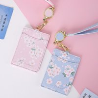 Card Holders PU Leather ID Holder With Adjustable Lanyard Student Bus Visit Door Bank Case Work Badge License Cover Bag