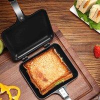 Non-Stick Grade dobrável Frigideira Paneiro Duplo-Sided Panfor Pão Brinde Torrada Máquina Waffle Pancake Panke Ferramentas
