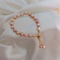 Charm Bracelets Baroque Pearl Girlfriends Bracelet Ins Niche Design Sense Hand Ornament Sister Token Jewelry All-match Trendy