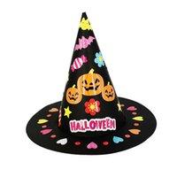 Halloween fai da te bambini cappello family artigianato giochi asilo nido a mano giocattolo giocattolo regalo del fumetto decorazione del partito cappelli da sole per bambini Cap Girls Accessori G849QXX