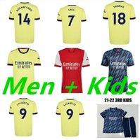 Smith Rowe SAMBI 21 22 Arsen Futbol Formaları Pharrell Humanrace Pepe Saka Nicolas Tierney Henry Willian Maitland-Niles Futbol Gömlek 2021 2022 Erkekler Kids Kiti Üniforma