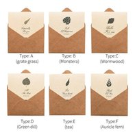 Gift Wrap 20pcs Wedding Stationery Part Thanks Brown Paper Envelopes Greeting With Folded Cardstock Retro Invitations Printed Elegant DIY