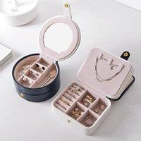 Boîte à bijoux en cuir portatif Boucles d'oreilles de bijoux en similicuir Organisateur Storage adressé Judéteuse 2021 Boîtes Bacs