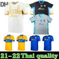 골키퍼 2021 2022 TIGRES UANL 7 별 세 번째 축구 유니폼 홈 멀리 20 22 멕시코 클럽 호랑이 월드컵 Gignac Vargas H. Ayala Sosa Jerseys Shirts