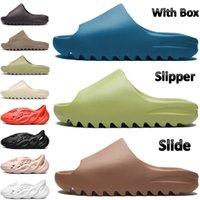 Con scatola slitta scivolo da donna scarpe da donna arancione verde resina fuliggine terra marrone triplo nero bianco sandali osso blu US 4-11
