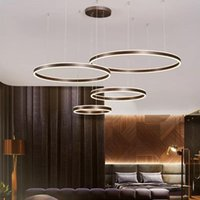 Pendant Lamps Ring Up down LED Chandelier Living Room Dining Bedroom Study Lamp Cafe Restaurant Clothing Store Commercial Lighting