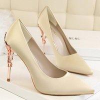 BigTree Mulheres Pu Alto Saltos Sapatos De Moda Escritório Estilete Party Shoes Conforto Feminino