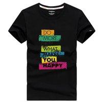 T-футболка с короткими футболками летнее хлопок тело верхняя одежда мода бренд половина рукава нижняя рубашка мужская T-Happy