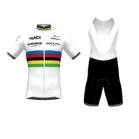 UCI 2021 Pro Ekibi Hızlı Adım Bisiklet Giyim Seti Yaz Nefes Kısa Kollu Bisiklet Jersey Önlüğü Şort Takım Ropa Ciclismo