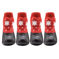Dog Apparel Cotton Rubber Pet Shoes Waterproof Non-slip Outdoor Feet Cover Rain Snow Boots Socks Footwear