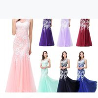 New Designer Light Pink Cheap In Stock Mermaid Prom Dresses Sleeveless Lace Applique Sexy Back Evening Party Gowns CPS360