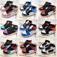 2021 Jumpman 1s 1 Basquete Sapatos Retro Lobo Grazinha Gama Azul Branco Branco Vermelho Prom Noite Crianças Sneakers Tênis Tamanho 26-35