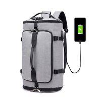 Backpack Anti-theft Password Lock Bucket Backpacks Large USB Charging Travel Hand Bag Multi-function Business Laptop Crossbody Bags B017