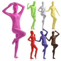 Инклюзивные повседневные все платья женские колготки Lycra Zentai сплошной цветной сценический костюм косплей