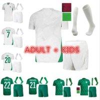 Adulto Kid Kit 2021 2 Estrelas Africano Copa Argélia Futebol Jerseys Home Afccon Mahrez Feghouli Bounce Bouzla Bouzza Algerie Jersay Football Shirts