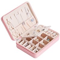 Jewelry Box Portable Casket Stud Chain Earing Ring Organizer Makeup Storage Beauty Container Necklace Birthday Gift 211014