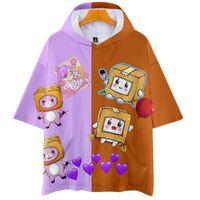 T-Shirts von Herren T-shirts Lankybox 3D-Klugheit Camisetas Com Capuzas DAS Mulheres / Homes MODA VERWEISE? O Manga Curta T-shirt Venda Quentes Streetwear Roupas