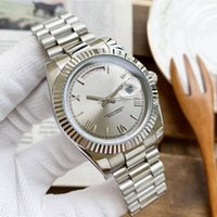 Mens Automatic Mechanical Watch 41mm Full Stainless Steel Gliding Casp Wristwatches Montre de Luxe