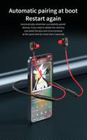 NeckBand Bluetooth V5.2 HiFi Steoro Fones de Ouvido Sem Fio Esportes Música Handsfree Headphones Apoiar Redução de Ruído Inteligente Tempo de espera