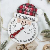 木製のクリスマスの飾り創造的なカウントダウン時計ホーム装飾木の休日カレンダーペンダント2スタイルXD24832