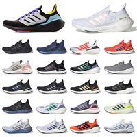 Adidas Ultra Boost 2021 Ultraboost 20 أحذية التنس الرجالية  ثلاثي أسود أبيض 4 رمادي باندا   الرجال النساء أحذية رياضية المدربين الركض المشي في الهواء الطلق   أحذية