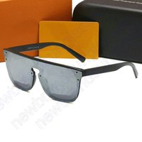 2021 Gafas de sol cuadradas Mujeres diseñador de lujo Hombre de lujo / Mujeres Waimea Gafas de sol Clásico Vintage UV400 Ocultos al aire libre de sol con caja y caja