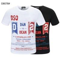 DSQ PHANTOM TURTLE SS Mens Designer T shirt Italian fashion Tshirts Summer DSQ Pattern T-shirt Male High Quality 100% Cotton Tops 60254