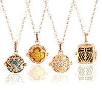 Boîte magique d'huile essentielle d'aromathérapie, collier en pierre de volcan, parfum creux, pendentif, parfum, bijouterie, mode et chaîne de pull simple.