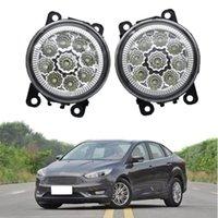 2 pcs Lâmpada do nevoeiro do carro para Ford Focus 2004-2010 12V LED FOG Montagem de luz super brilhante
