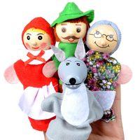 Personajes de dibujos animados de bebé Pupones de dedo Teatro Mostrar Muñecas Soft Muñecas Props Juguetes para niños para niños Regalo Juego 1043 V2