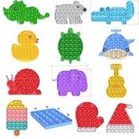 Empurre Pop Bubble Sensory Fidget Toy Cartoons Autismo Especial Precisa Stress Reliever Ansiedade Brinquedos Evitar Ferramentas de Alívio Engraçadas