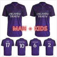 Homme Kids Kit 2021 Version du joueur Orlando Home City Soccer Jersey 21 22 Football SC Nani Pato Dwyer Akindele Mueller Mueller Mutinho Ruan Kljestan Johnson Homme Shirt